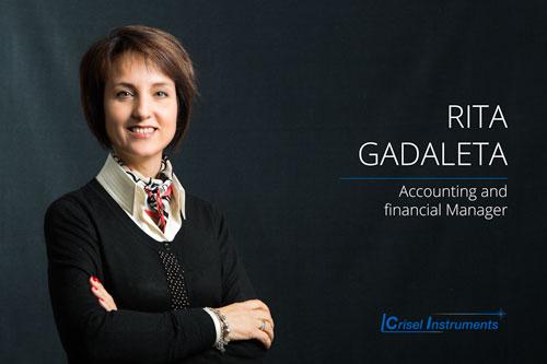 Rita Gadaleta - Accounting and Financial Manager È responsabile, con oltre 30 anni di esperienza, della gestione finanziaria e della contabilità aziendale.