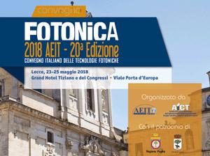 Fotonica 2018 a Lecce Lecce 23-25 Maggio 2018