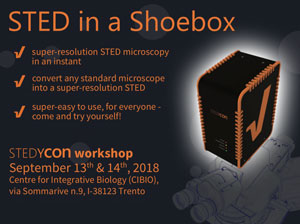 September 13-14  Stedycon: Sted In A Shoebox - Demo And Hands-On With Crisel Instruments And Abberior