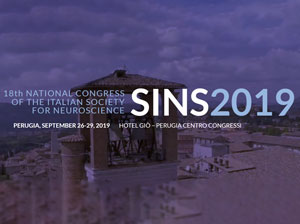 18th National Congress of the Italian Society for Neuroscience SINS 2019 dal 26 a 29 Settembre