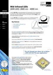 Nanoplus MIRLED 2800-4000nm