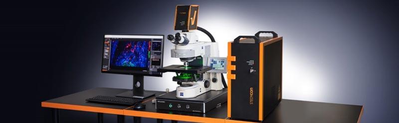 Sistema confocale e super resolution STED, super stabile fino a 30 nm di risoluzione laterale, anti-drift e compatibile con diversi obiettivi e microscopi pre-esistenti in laboratorio, facile da montare, compatto e software intuitivo